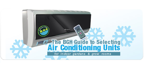 The BGH Guide to Selecting A/C Units for Indoor Gardens and Grow Rooms